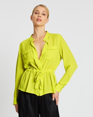 Banana Republic Utility Tie Waist Top