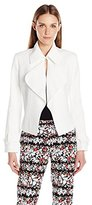 Anne Klein Women's Washed Linen Short Trench Jacket
