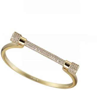 Paved Gold D Cuff Bracelet
