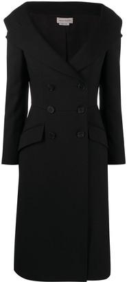 Alexander McQueen Peak-Lapel Double-Breasted Dress