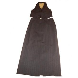 DSQUARED2 Grey Wool Dresses