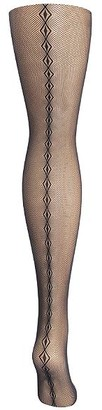Hanes Plus Size Curves Diamond Backseam Fashion Tights