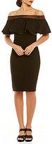 Tadashi Shoji Ruffle Off-the-Shoulder Sheath Dress