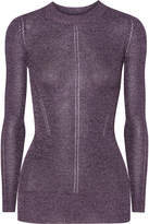 Christopher Kane Dna Metallic Pointelle-knit Top - Lilac