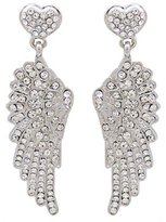 Butler & Wilson Butler and Wilson Crystal Wing and Heart Earrings
