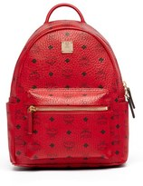 MCM 'Small Stark' Coated Canvas Backpack - Red