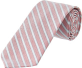 Brooks Brothers Red Fleece Red Striped Oxford Cotton Tie