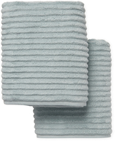 Melange Home Ribbed Turkish Cotton Bath Towels (Set of 2)