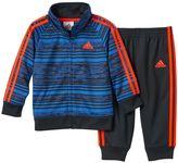 adidas Boys 4-7x Geometric Stripe Track Jacket & Jogger Pants Set