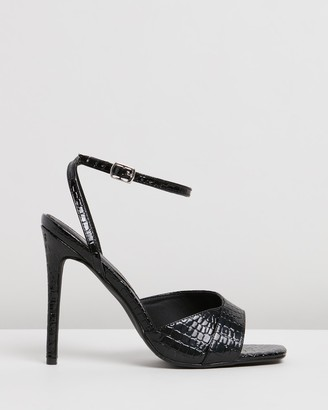 Missguided Croc Asymmetric Barely-There Heels