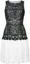 Oscar de la Renta short pleated dress - women - Silk/Polyester - 4