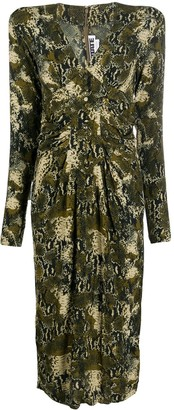 Rotate by Birger Christensen Python-Print Fitted Dress