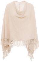 Minnie Rose - Cashmere Fringe Ruana in Doeskin