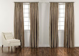 "Ethan Allen 100"" Titanium Taffeta Stripe Inverted Pleat Panel"