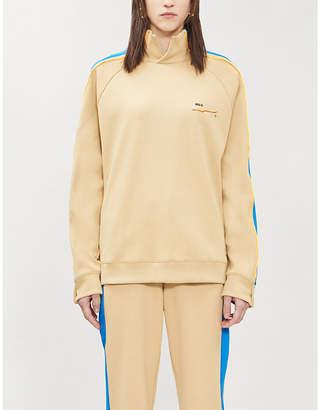 Puma X ADER ERROR High-neck logo-print cotton-blend piqué jumper