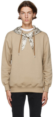 Opening Ceremony Brown Scarf Hoodie