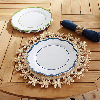 Ballard Designs Set of 4 Scalloped Melamine Dinner Plates
