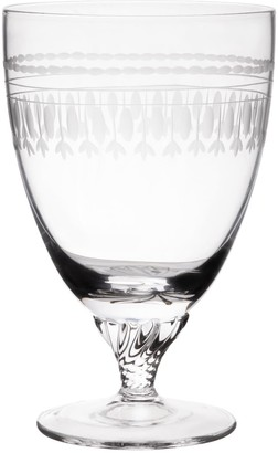 The Vintage List Six Hand-Engraved Crystal Bistro Wine Glasses With Ovals Design