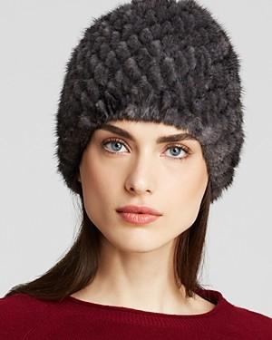 Maximilian Furs Maximilian Knitted Mink Hat
