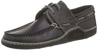 TBS Men's Globek Boat Shoes, Black (Noir+Dauphin B8B44), 6 UK