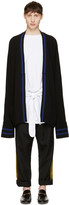 Haider Ackermann Black Long Wool Cardigan
