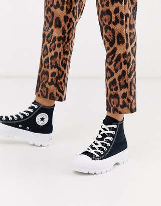 Converse Black Chuck Taylor Hi Chunky Sole Sneakers