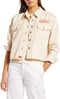 Dickies Logo Patch Crop Cotton Trucker Jacket