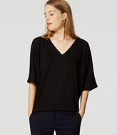 LOFT Mixed Media Dolman Top
