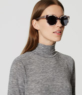 LOFT Marbleized Cateye Sunglasses