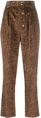 Etro Corduroy High-Waisted Trousers