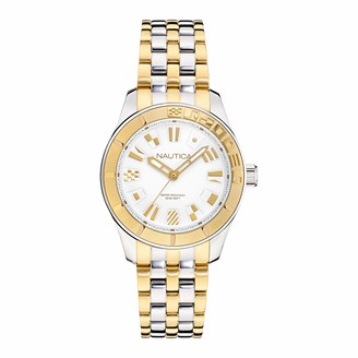 Nautica Women's Quartz Stainless Steel Strap Two-Tone 18 Casual Watch (Model: NAPPBS032)