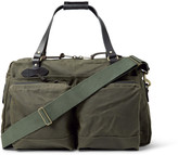 Filson - 48-hour Leather-trimmed Tin Cloth Duffle Bag