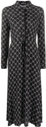 Markus Lupfer Blair lip print shirt dress