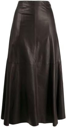 P.A.R.O.S.H. Hiigh-Waisted Leather Skirt