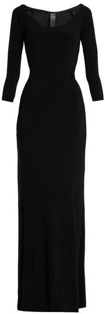 Norma Kamali Scoop Neck Jersey Dress - Womens - Black