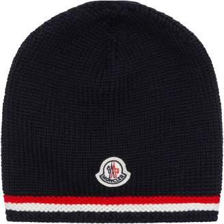 Moncler Enfant Logo Beanie Hat