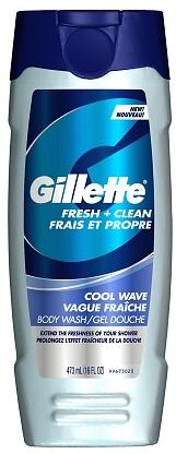 Gillette Fresh + Clean Body Wash Cool Wave