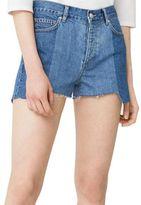 MANGO Frayed Five-Pocket Denim Shorts