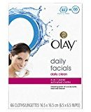 Olay Daily Facials Soap-Free Eye Makeup Remover and 4-In-1 Water Activated Facial Cleanser Cloths, Daily Clean 66 Count