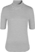 Olsen Stripe roll neck T-shirt