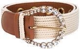 Ermanno Scervino embellished buckle belt - women - Cotton/Calf Leather - 75