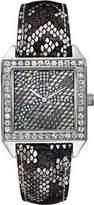 GUESS Ladies Watch Silver Tone Snake Print W0050L1