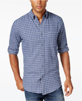 John Ashford Men's Long-Sleeve Plaid Shirt, Only at Macy's
