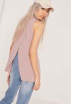 Missguided Wrap Back Tunic Lilac