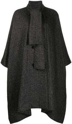 MSGM Patterned Shawl Collar Oversized Coat