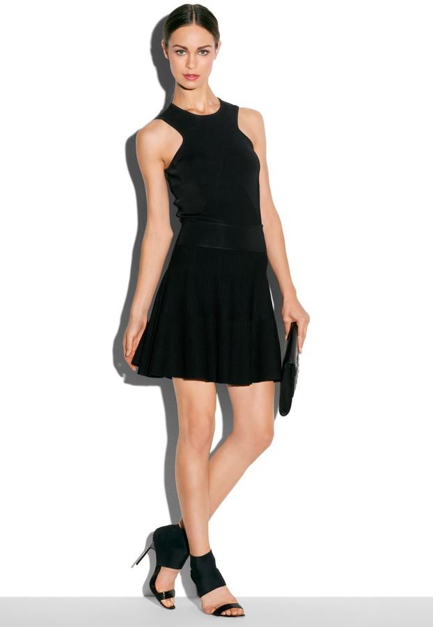 Milly Stretch Knit Flare Skirt