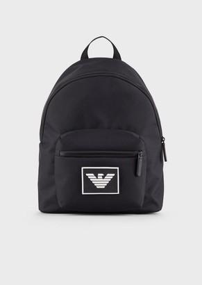 Emporio Armani Cordura Backpack With Logo Shoulder Straps