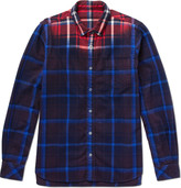 Sacai - Dip-dyed Checked Cotton-flannel Shirt