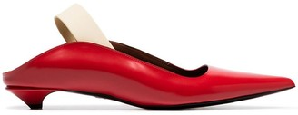 Proenza Schouler Red 20 Glossy Leather Slingback Pumps