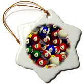 Pool' 3dRose LLC orn_962_1 Billiards - Billiard Balls Pool - Ornaments